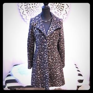 VIA SPIGA Leopard Trendy Coat 🌟